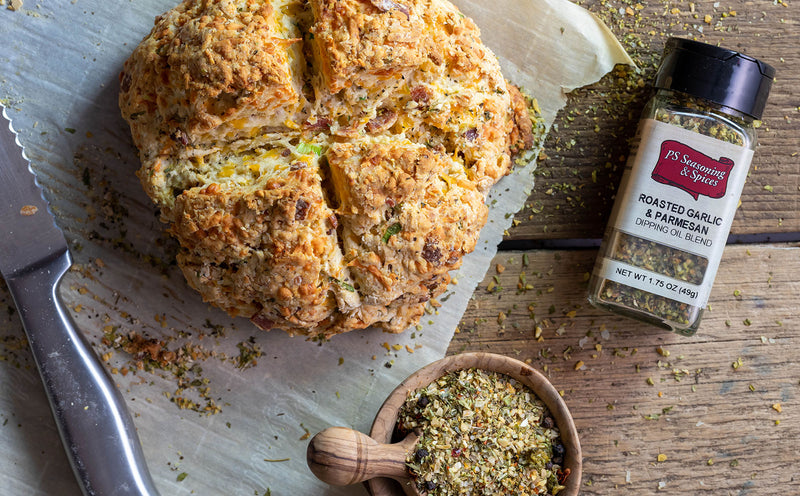 Garlic & Parmesan Irish Soda Bread