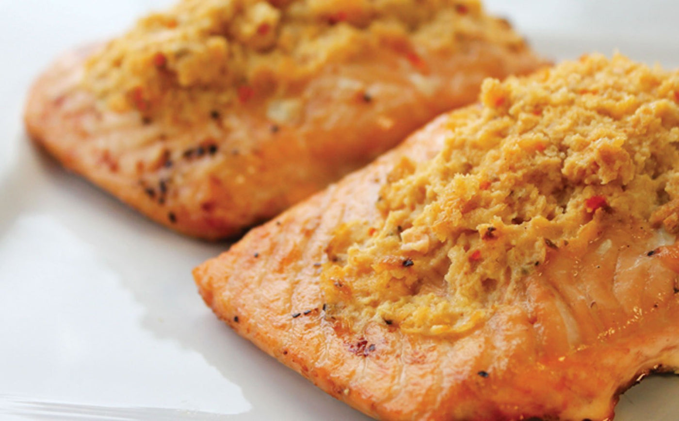 Grilled Chipotle Cheddar Stuffed Salmon
