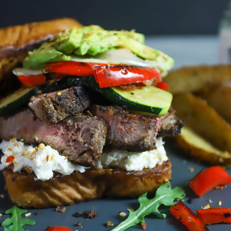 Whipped Goat Cheese Steak Sandwich