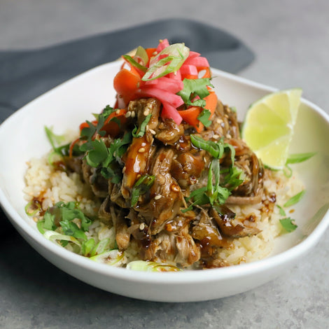Ginger Teriyaki Pulled Pork Bowls