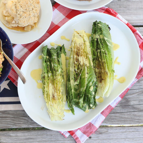 Grilled Romaine with Honey Mustard Dressing
