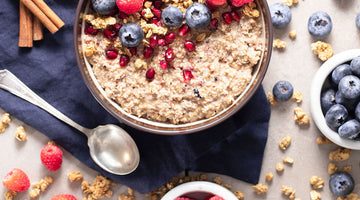 Pomegranate & Berry Oatmeal Bowls