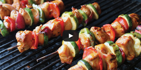 Recipe Video - Marinated Teriyaki Chicken Kabobs