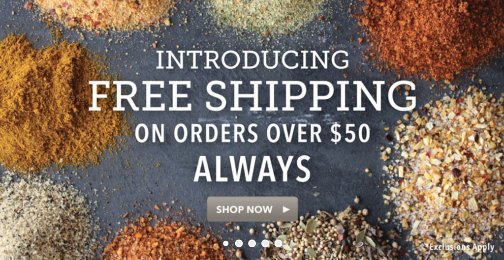 FREE SHIPPING on Orders Over $50, Today and Everyday