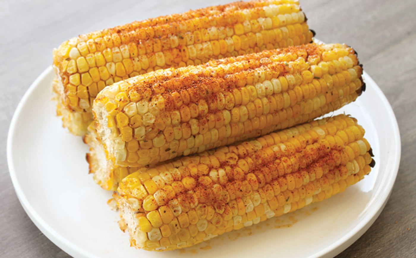 Seasoned Grilled Corn On The Cob