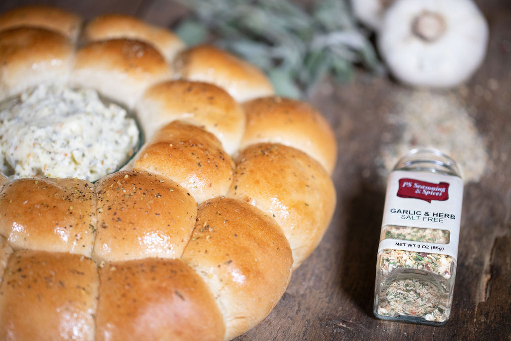 Simple Dinner Rolls with Parmesan Herb Butter