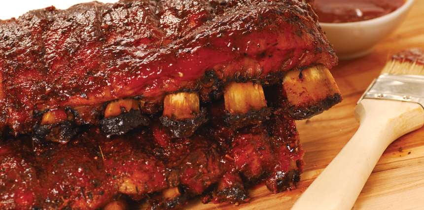 Smokehouse Recipe - BBQ Ribs Full Rack Ribs or Country Ribs