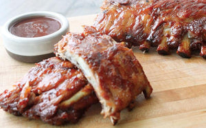 Sweet Bourbon Chipotle Apple BBQ Ribs