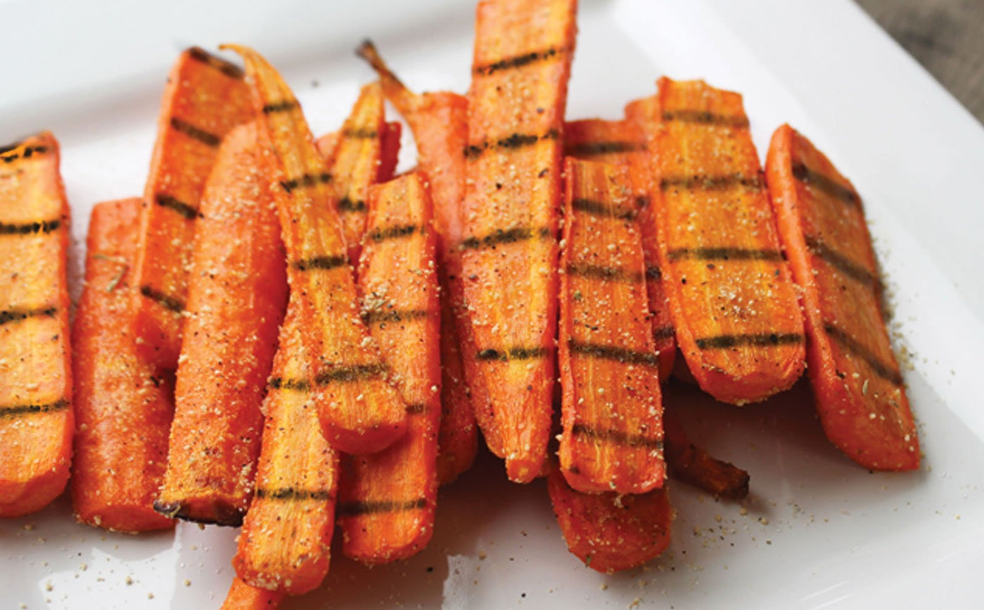 Sweet Pecan Citrus Grilled Carrots