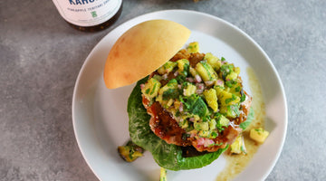 Big Kahuna Burgers with Grilled Pineapple Salsa