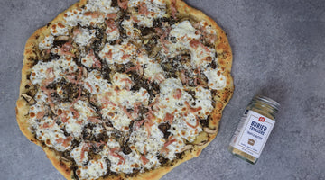 Black Truffle Pizza with Prosciutto