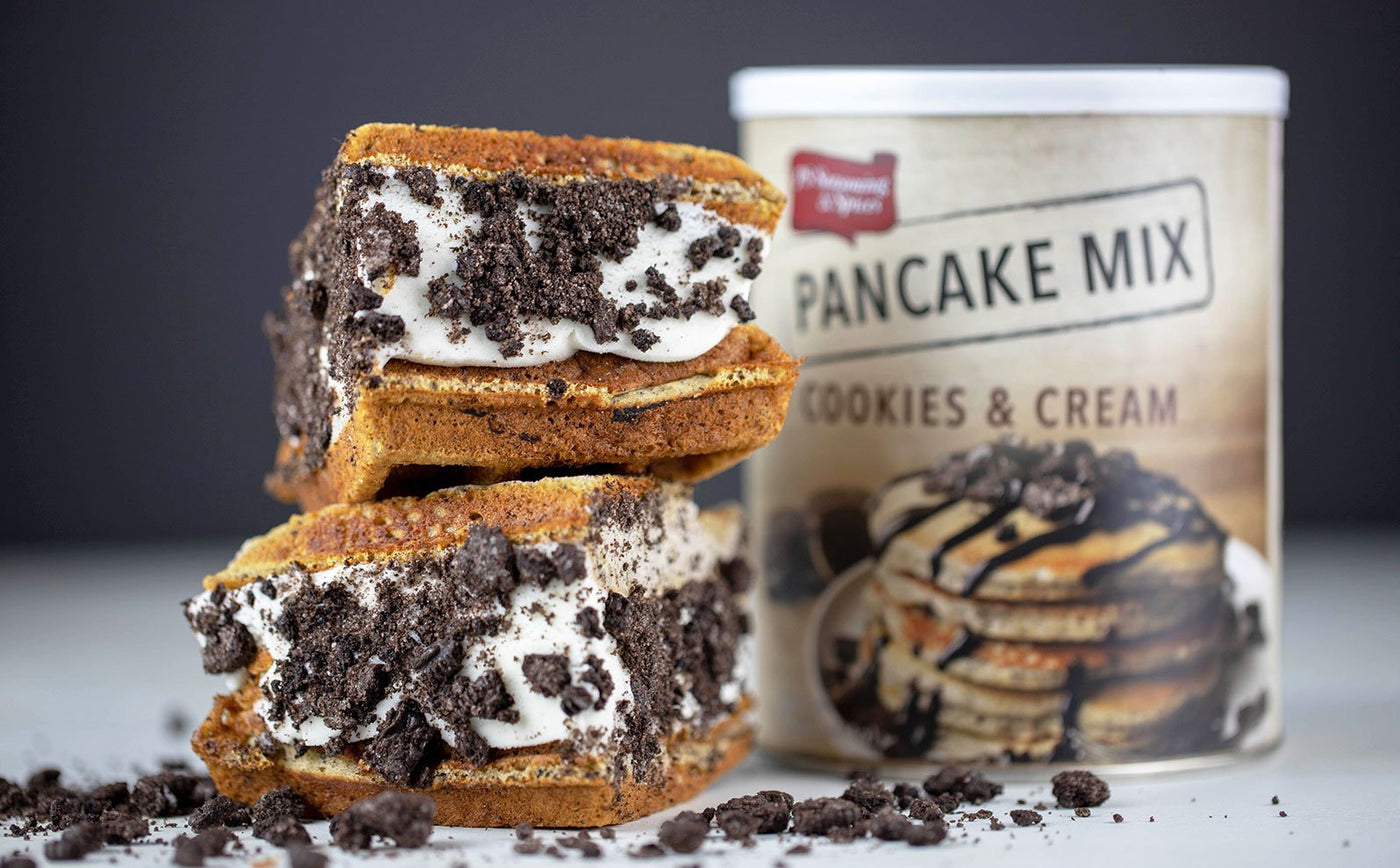Cookies & Cream Waffle Ice Cream Sandwich