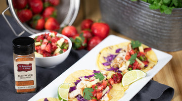 Grilled Fish Tacos with Strawberry Pineapple Chutney