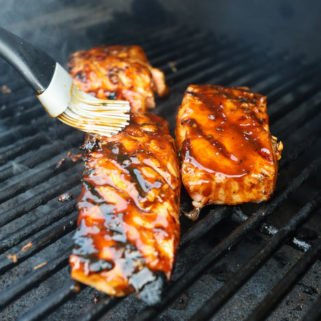 Teriyaki-Glazed Grilled Salmon