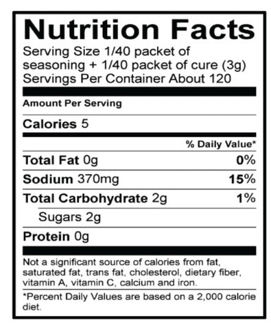 Sweet and Hot Jerky Nutrition Facts