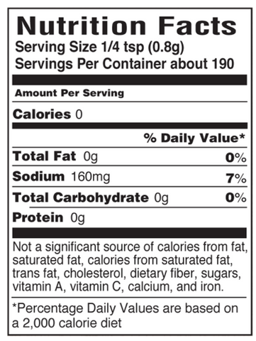 Chili Cheese Fry Nutritional Facts Panel