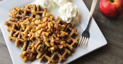 Gluten-Free Apple Pie Waffles With Apple Spice Syrup