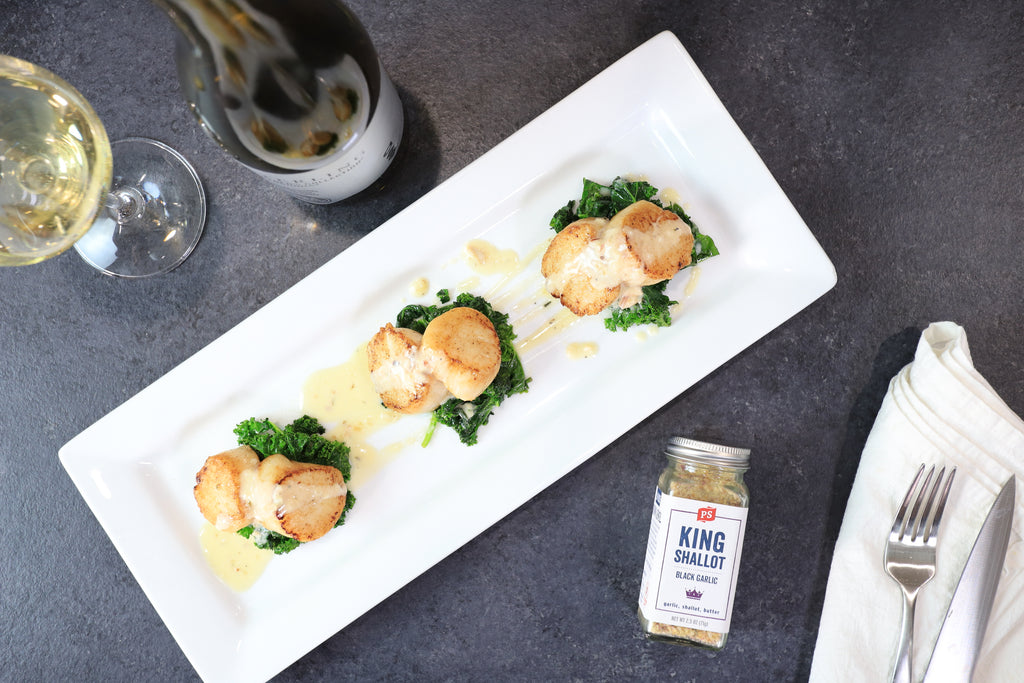seared scallops with cream sauce