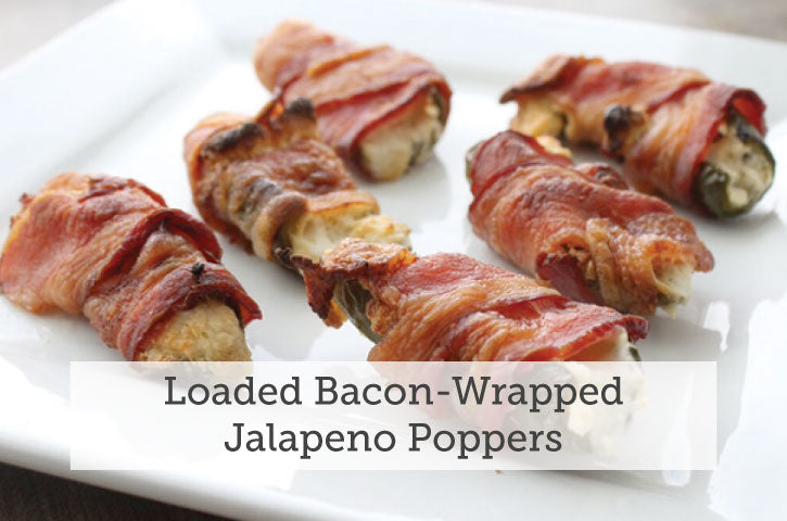 Loaded Bacon-Wrapped Jalapeno Poppers
