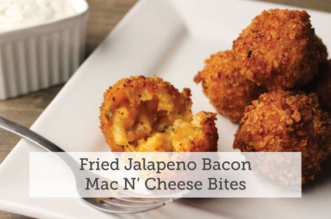 Fried Jalapeno Bacon Mac N' Cheese Bites