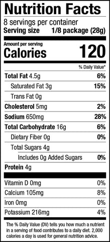 PS Seasoning Broccoli Cheddar Soup Mix Nutrition Facts