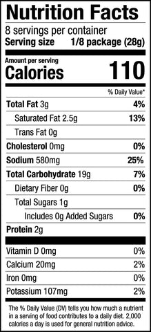 PS Seasoning Chicken Dance Wild Rice Soup Mix Nutrition Facts