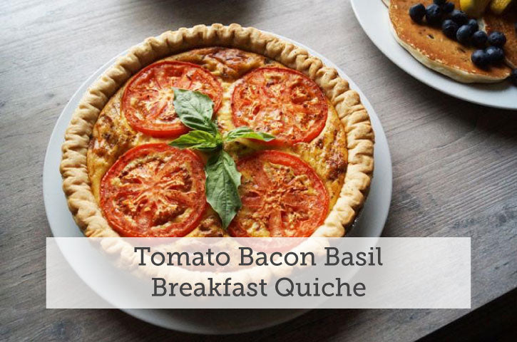 Tomato Bacon Basil Quiche