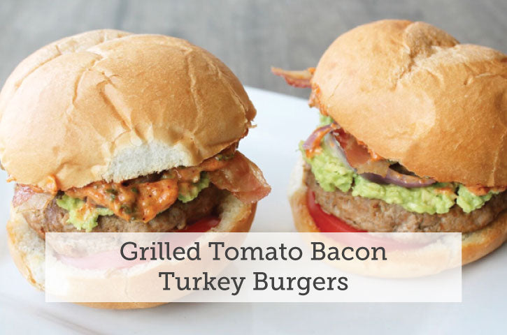Grilled Tomato Bacon Turkey Burgers