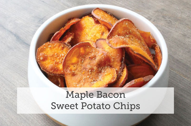 Maple Bacon Sweet Potato Chips