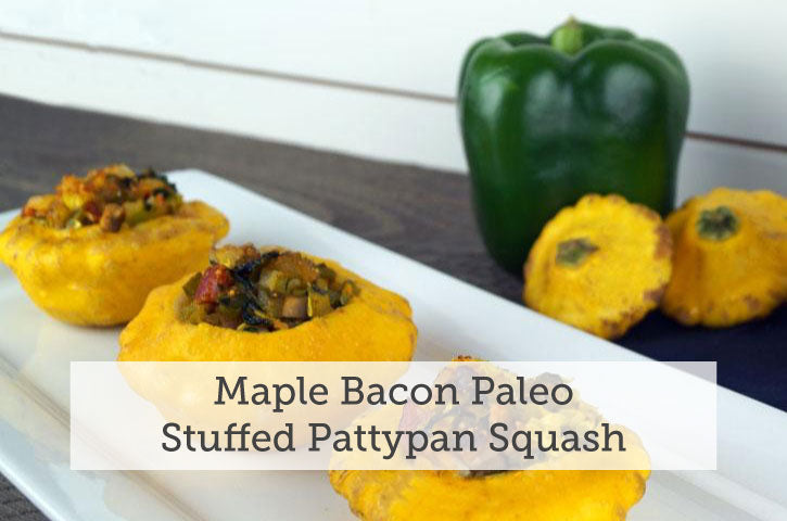 Maple Bacon Paleo Stuffed Pattypan Squash