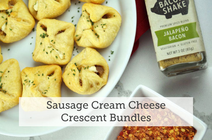 Sausage Cream Cheese Crescent Bundles