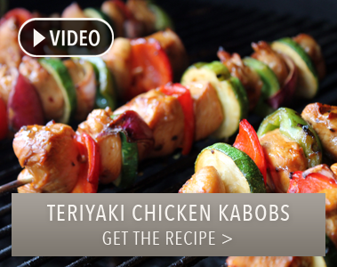 Grilled Ginger Teriyaki Chicken Kabobs