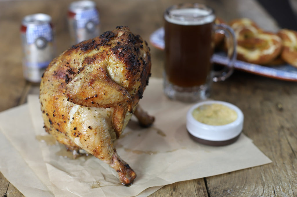 oktoberfest beer can chicken
