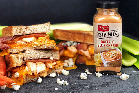 Buffalo Bacon Chicken Grilled Cheese