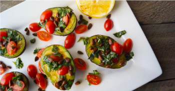 Grilled Tomato Basil Avocado