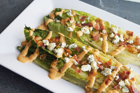 Grilled Romaine Lettuce w/ Buffalo Blue Cheese Dressing