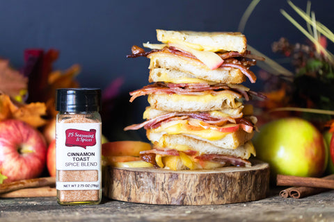 Apple Cinnamon & Bacon Gouda Grilled Cheese