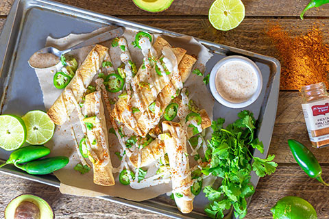 Sweet Onion Applewood BBQ Taquitos
