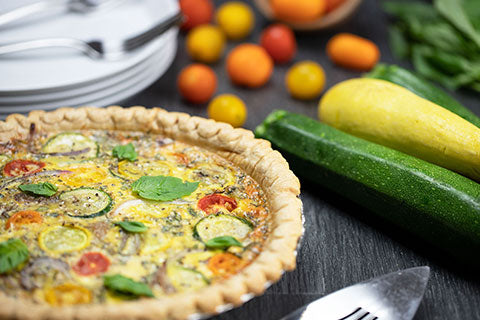 Farmers Market Vegetable Quiche