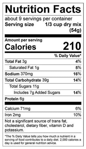 Deep Chocolate Triple Treat Pancake Nutrition Facts