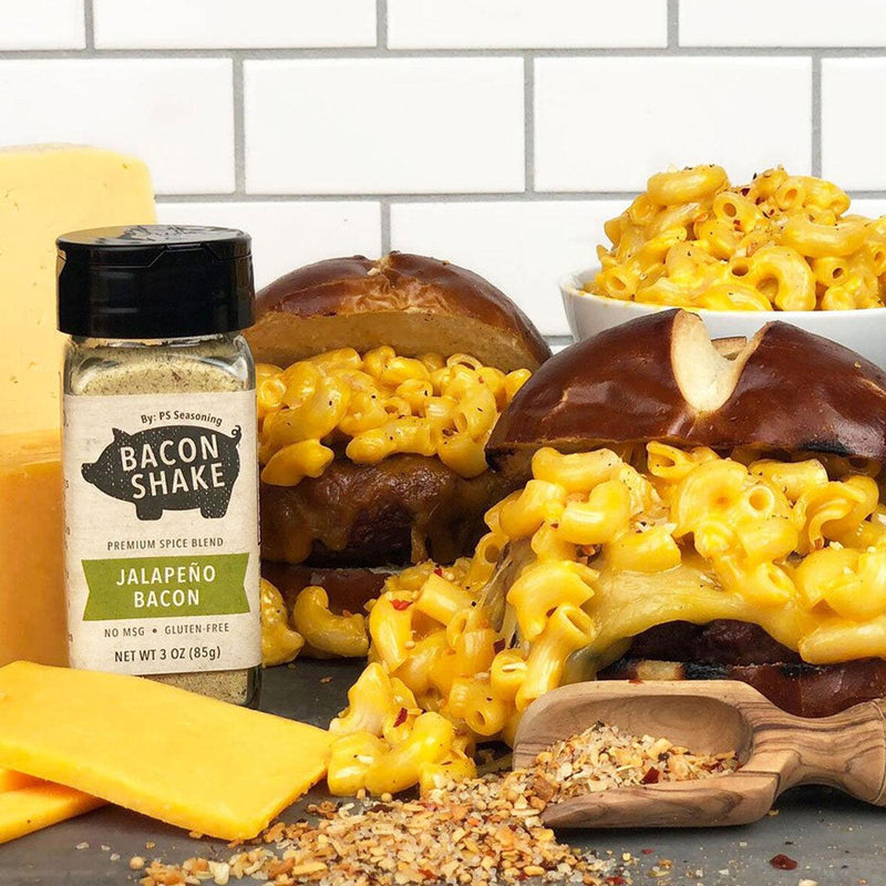 Mac and Cheese Pretzel Burger