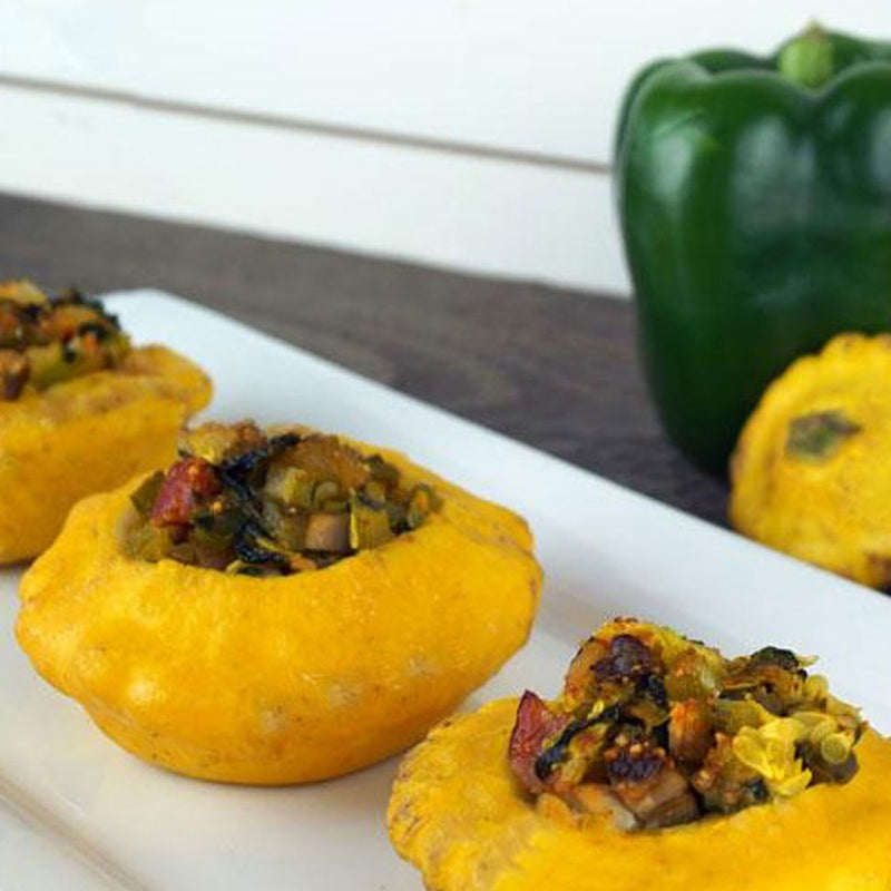 Paleo Stuffed Patty Pan Squash