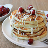 White Chocolate & Cranberry Pancakes