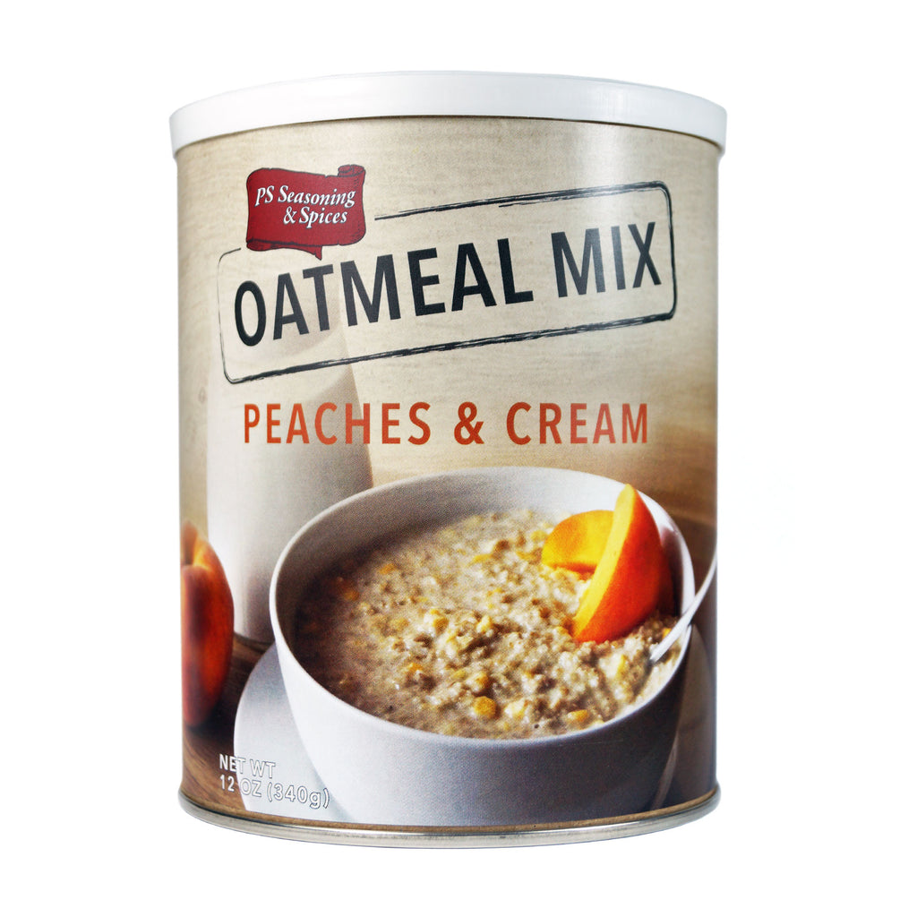 PS Seasoning Peaches & Cream Oatmeal Mix