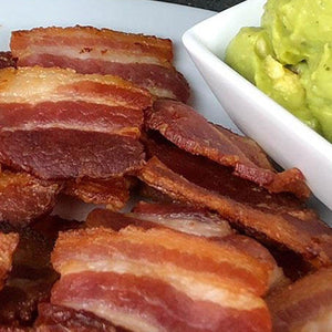 Bacon Chips with Guacamole