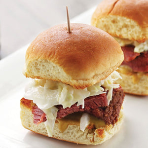Bourbon Chipotle Corned Beef Sliders
