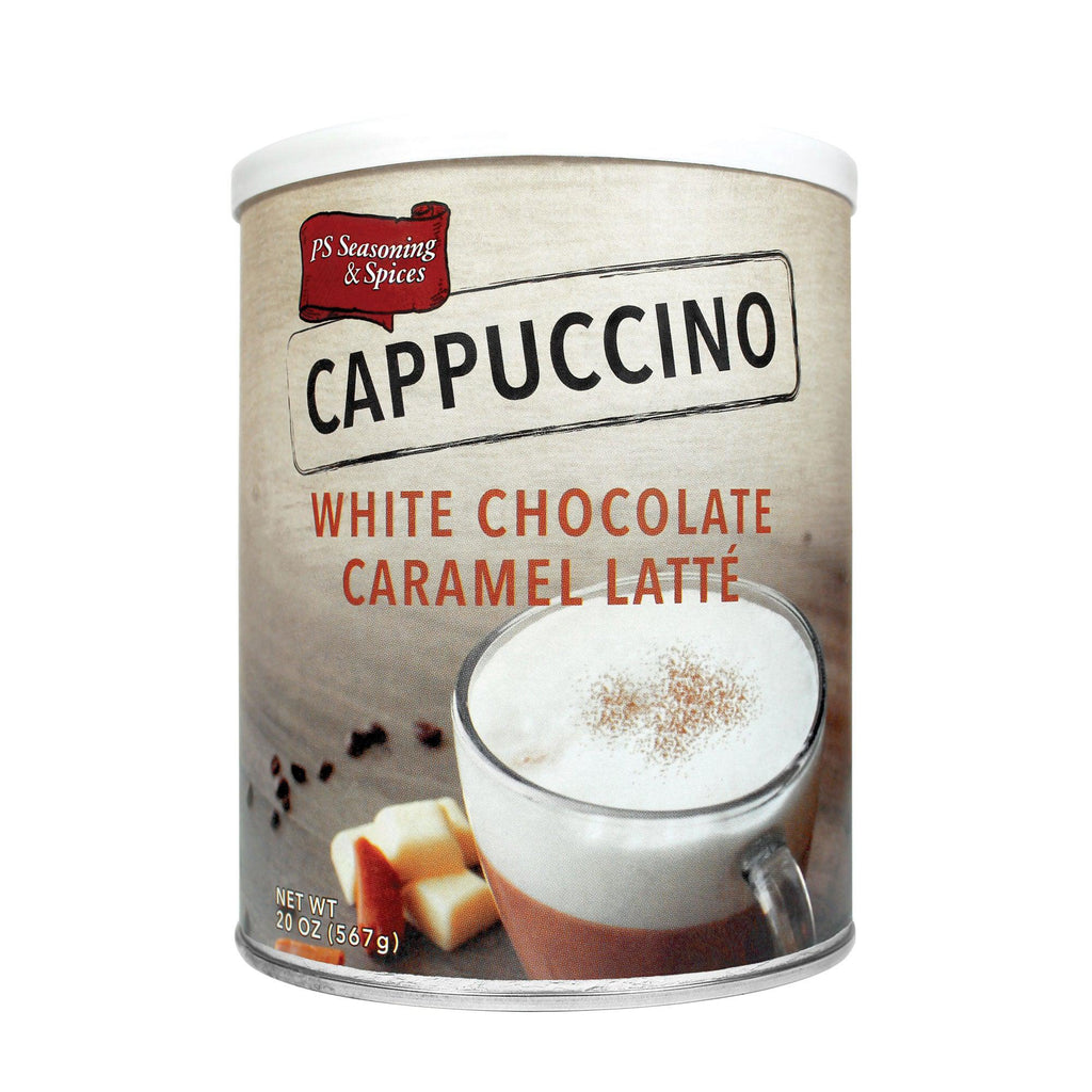 White Chocolate Caramel Latte Cappuccino Mix Canister