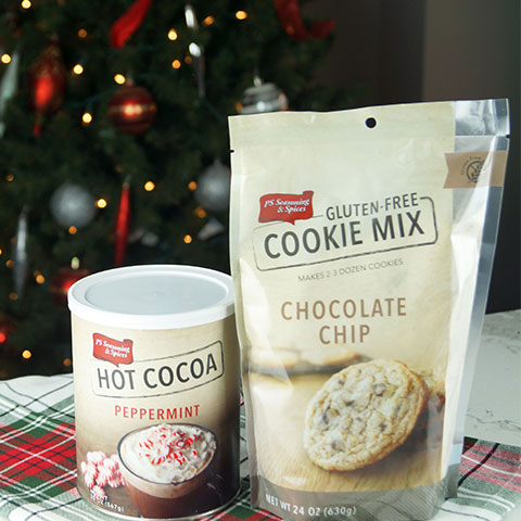Gluten-Free Chocolate Chip Cookie Mix and Peppermint Hot Cocoa Mix