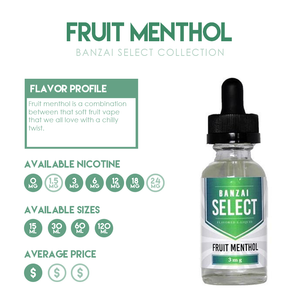 Featured Flavor: Fruit Menthol from the Banzai Select Collection