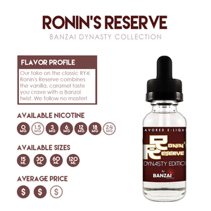 Featured Flavor: Ronin's Reserve from the Dynasty Collection